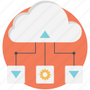 cloud, cloud computing, network, networking icon