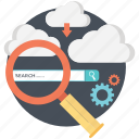 browsing, cloud, cloud computing, http, search, search bar icon