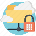 cloud data protection, cloud encryption, cloud storage and data encryption, cloud storage encryption key, encrypted cloud storage icon