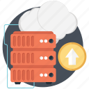 cloud, cloud computing, network, server, uploading icon