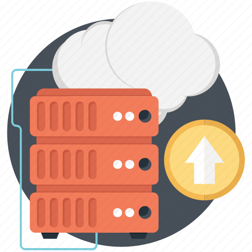 cloud, cloud computing, network, server, uploading icon