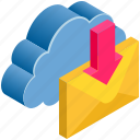 cloud, computing, email, letter, mail, receive