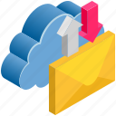 cloud, computing, email, letter, mail, sync