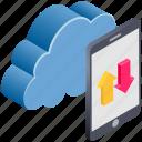 cloud, computing, data, mobile, smartphone, transfer