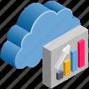 cloud, computing, diagram, graph, statistics, up icon