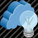 cloud, computing, creativity, idea, innovation, light
