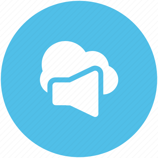 cloud network, information technology, online advertisement, online marketing, speaker sign, wireless communication, wireless technology icon