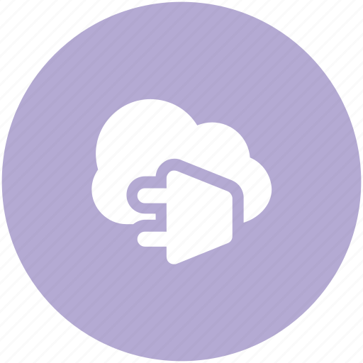 cloud computing, cloud connection, cloud network, internet hub, modern technology, network connection, power cord icon