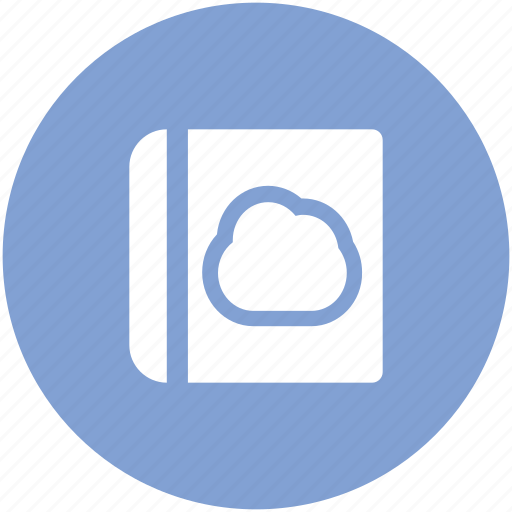 cloud network, cover book, ebook, education concept, modern education, online study, social network icon