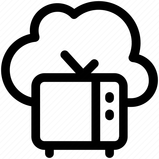 cloud computing, cloud televison, icloud, tv, tv set icon