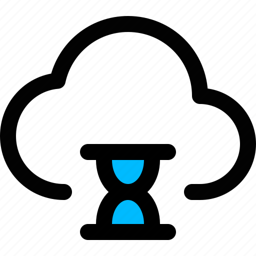 cloud, hourglass, loading, updating, updating cloud icon