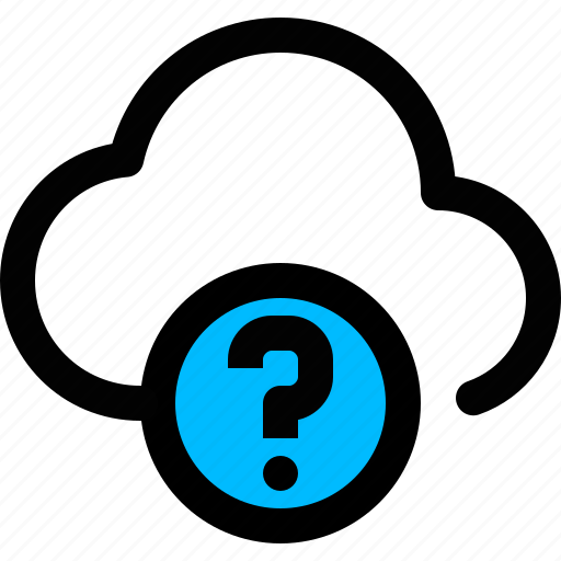 cloud, help, question, unknown icon