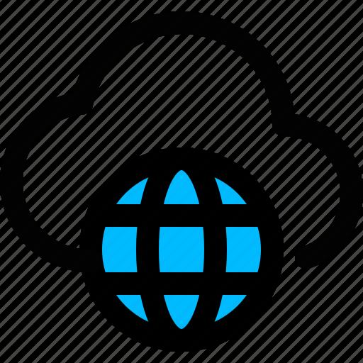 cloud, cloud computing, internet, network, service icon