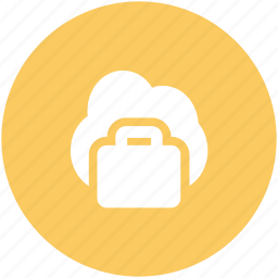 business bag, cloud network, global business, global investment, modern business, online business, wireless technology icon
