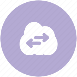 arrow pointing, cloud network, cloud technology, left arrow, right arrow, wireless network, wireless technology icon