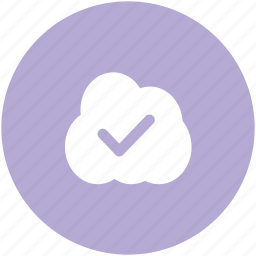 checkmark, cloud acceptance, cloud checkmark, cloud computing, cloud network, icloud, wireless technology icon