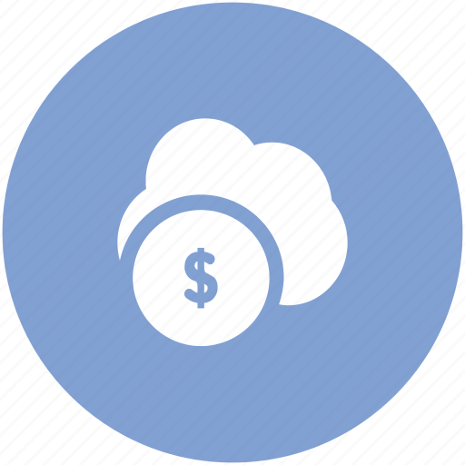 cloud network, currency symbol, dollar sign, financial, global business, modern technology, online business icon