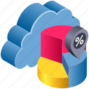 cloud, computing, diagram, discount, graph, location, percent icon