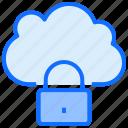 cloud, computing, lock, security
