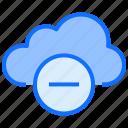 cloud, computing, minus, remove, delete
