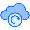 cloud, computing, sync, refresh, loading