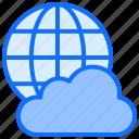 cloud, computing, internet, network, globe, data, world