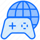 gaming, world, globe, online, joypad, controller
