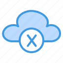 disconnected, cloud, network, offline, storage, data, problem