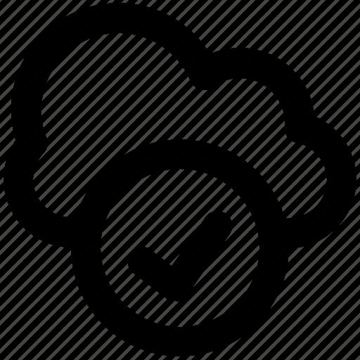checkmark, cloud acceptance, cloud checkmark, cloud computing, cloud network, icloud, wireless technology icon