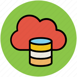 cloud computing, cloud database, cloud hosting, cloud storage, communication, global access, global informations icon