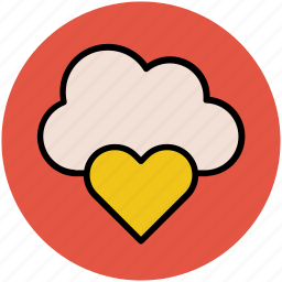 cloud and heart, cloud computing concept, cloud heart, icloud, love sign, online passion, relationship icon