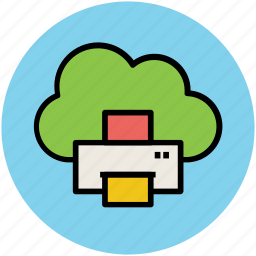 cloud computing, cloud hosting, cloud network, data printing, digital service, facsimile, network services icon