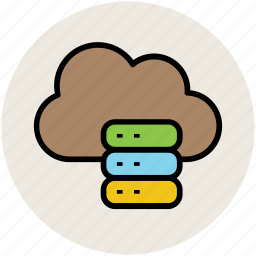 cloud storage, data, data storage, database, hosting, rack icon
