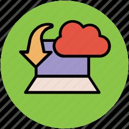 cloud computing, cloud download, cloud informations, cloud internet, cloud technology, downloading concept, wireless internet icon
