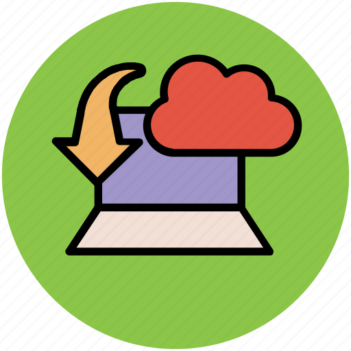 cloud computing, cloud download, cloud informations, cloud internet, cloud technology, downloading concept, wireless internet icon