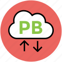 arrow pointing, cloud network, download, pb cloud, upload, wireless fidelity icon