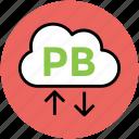 arrow pointing, cloud network, download, pb cloud, upload, wireless fidelity icon