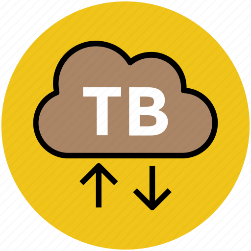arrows pointers, cloud network, download, tb cloud, upload icon