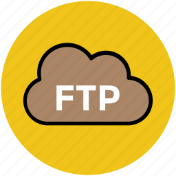 cloud service, data service, ftp, information software, programming, wireless network icon