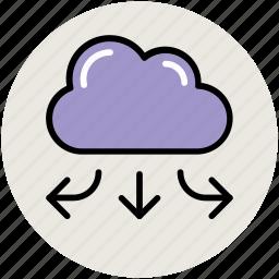 arrows, broadband network, broadband networking, broadband system, cloud connectivity, connectivity, linkedin connection, spreading arrows icon