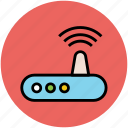 broadband, internet, internet device, router, wifi modem, wireless network, wlan icon