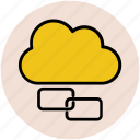 icloud, link building, linkage, network sharing, web connection, web link icon