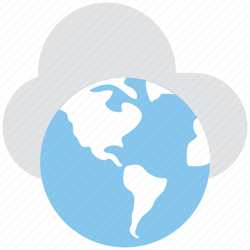 cloud computing, globe, icloud, internet, network icon