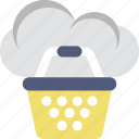 basket, cloud, estore, online shopping, shopping icon