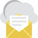 cloud computing, cloud mail, cloud storage, communication, email icon