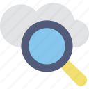 browsing, cloud, cloud computing, cloud search, magnifier icon