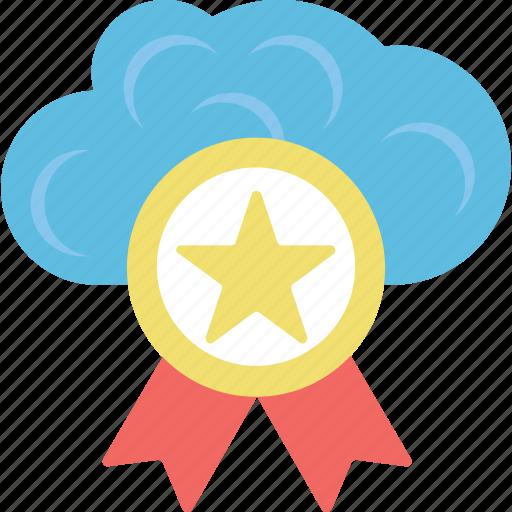 badge, cloud, cloud certification, icloud, seo icon