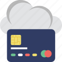 cloud computing, credit card, e banking, e commerce, shopping icon