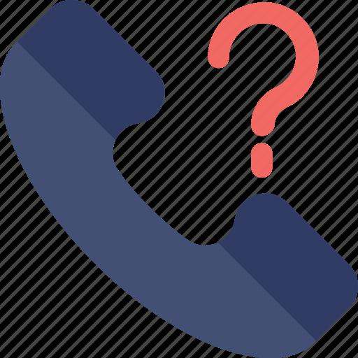 customer service, helpline, question mark, receiver, support icon
