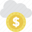 business, cloud, commerce, dollar, online business icon